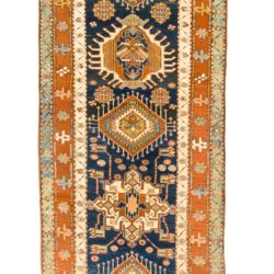 "Antique Persian Karadja 3'3""×17'11"""