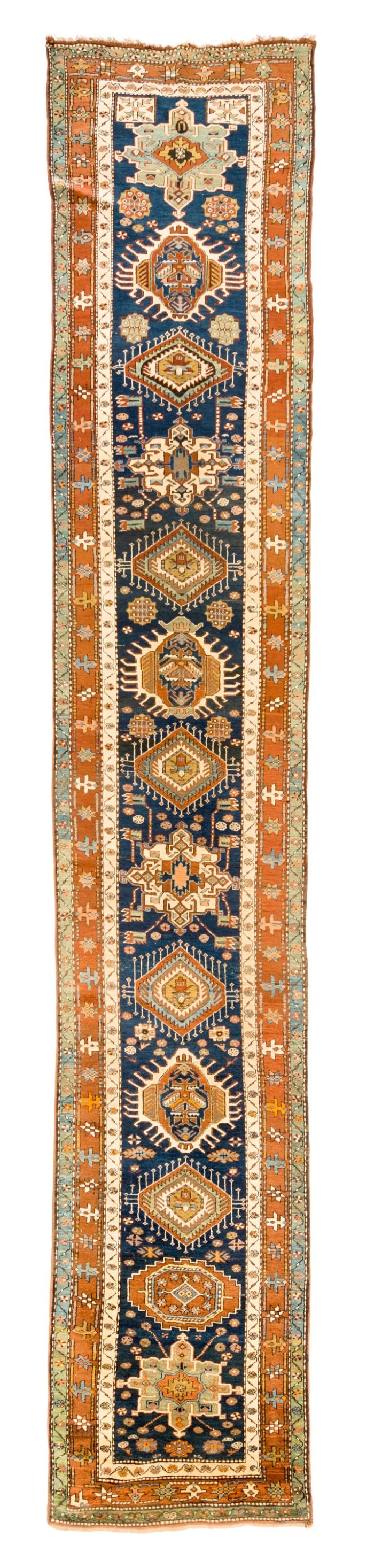 "Antique Persian Karadja 3'3""×17'11"""