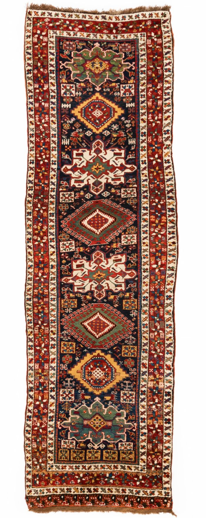 "Antique Persian Karadja 3'7""×11'8"""