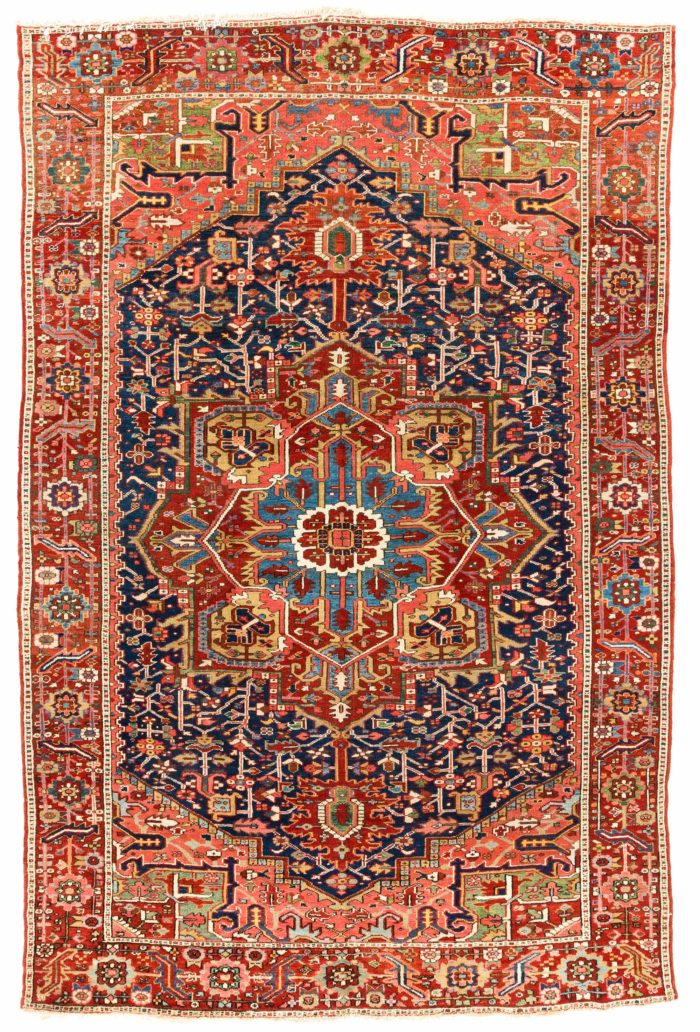 "Antique Persian Karadja Heriz 7'0""×10'7"""