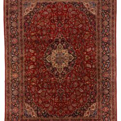 "Antique Persian Kashan 10'9""×14'11"""