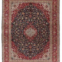 "Antique Persian Kashan 10'0""×13'4"""