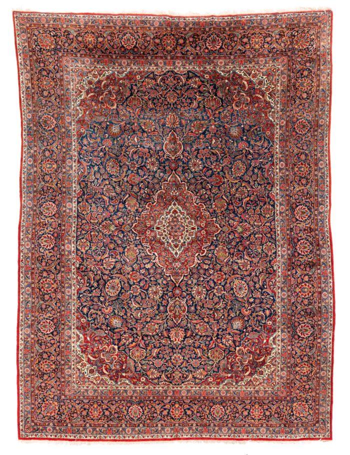 """Antique Persian Kashan 9'0""""×11'10"""""""