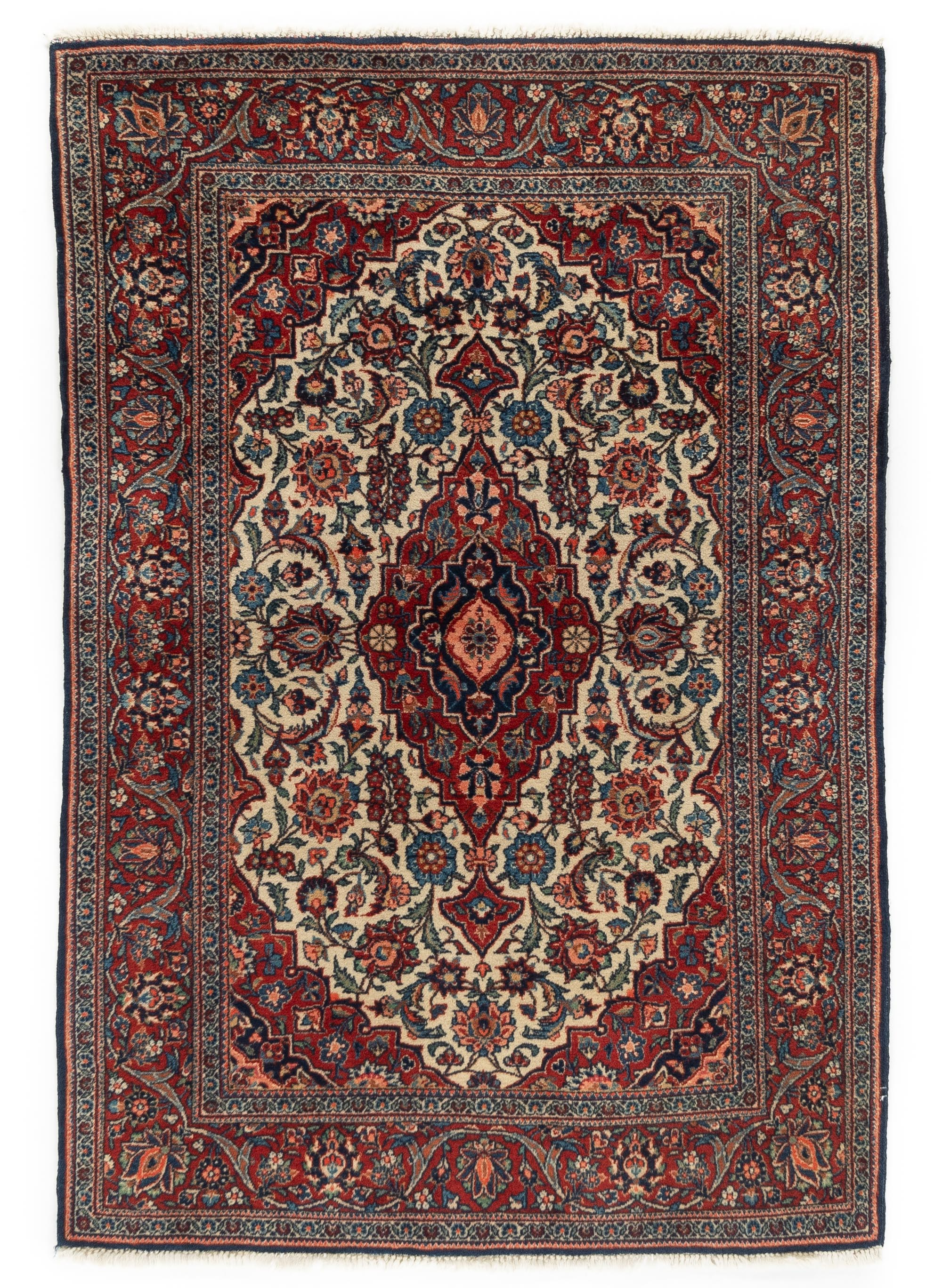 "Antique Persian Kashan 3'6""×5'2"""