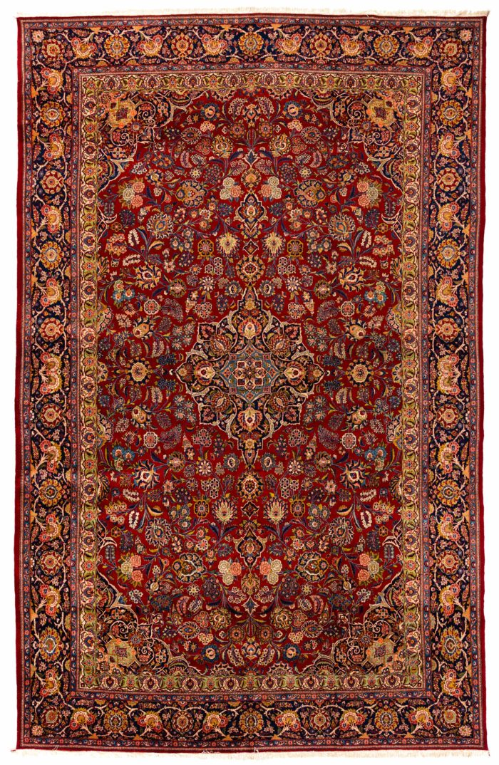 "Antique Persian Kazvin 11'2""×17'7"""