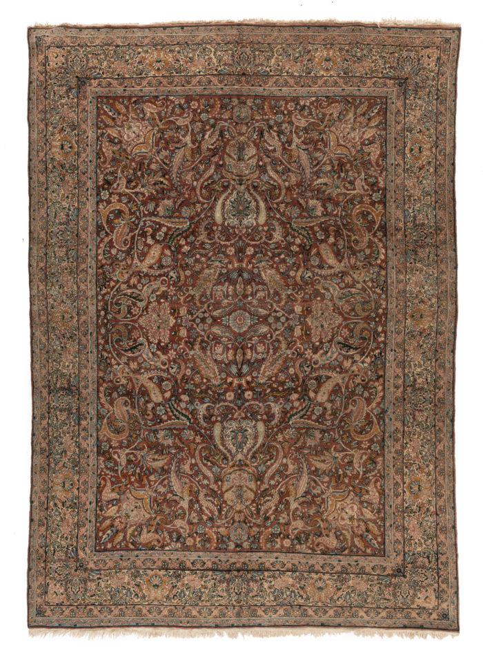 "Antique Persian Kerman 8'7""×12'3"""