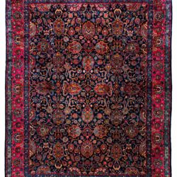 "Antique Persian Kerman 12'8""×17'4"""