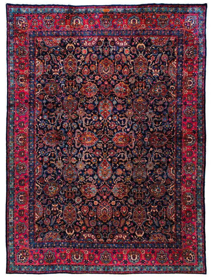 "Antique Persian Kerman 12'8""×17'4"""