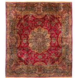 "Antique Persian Kerman 13'0""×14'4"""