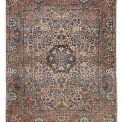 "Antique Persian Kerman 4'8""×5'9"""