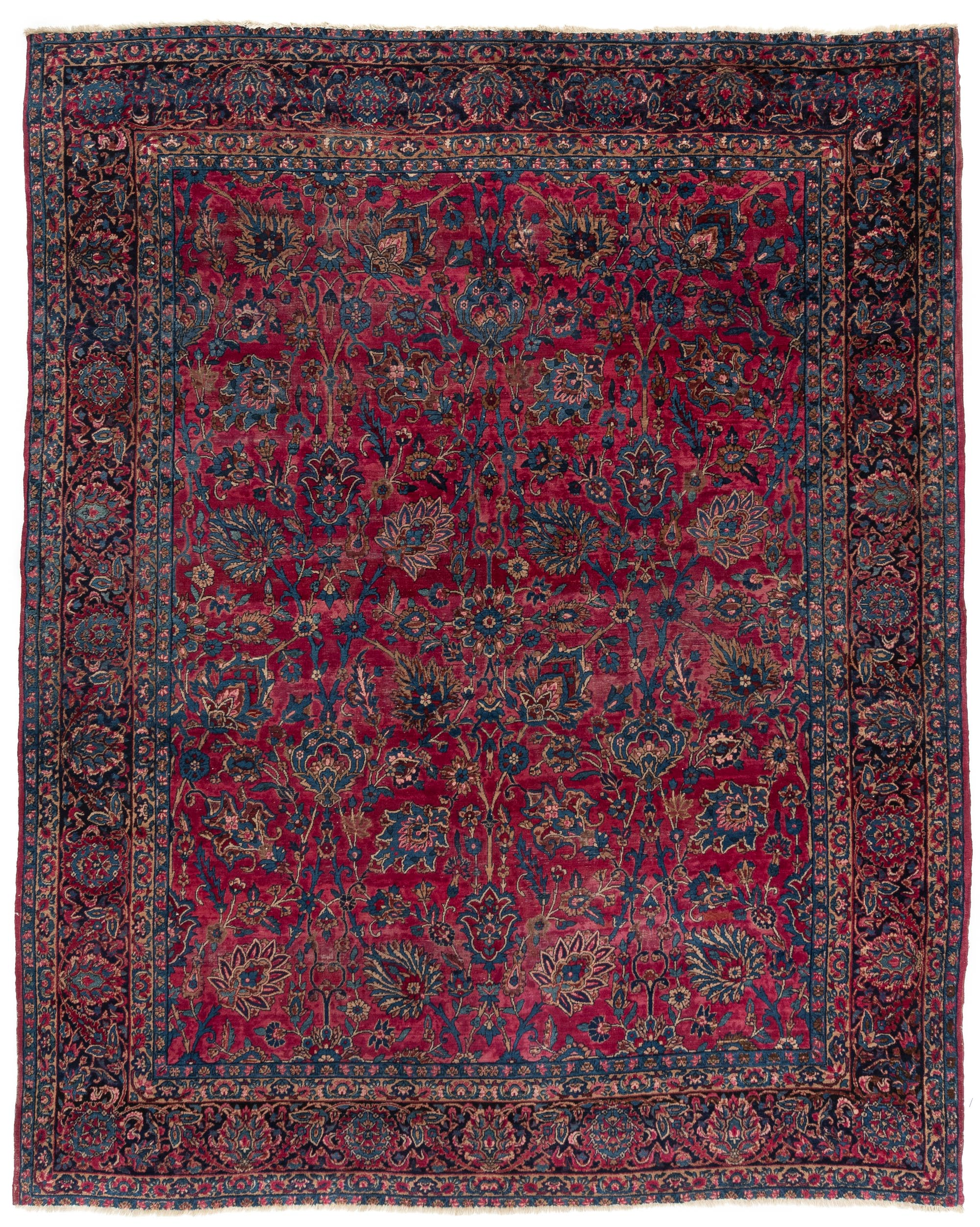"Antique Persian Kerman 3'3""×12'3"""