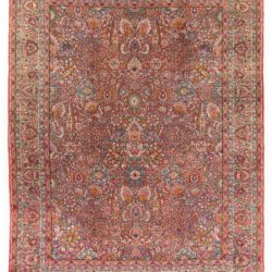 "Antique Persian Kerman Rug 8'6""×11'3"""