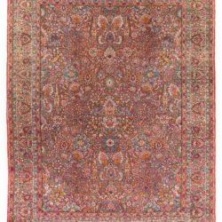 """Antique Persian Kerman Rug 8'6""""×11'3"""""""
