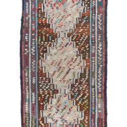 "Antique Persian Kilim 4'3""×9'3"""