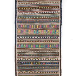 "Antique Persian Kilim 4'0""×9'2"""