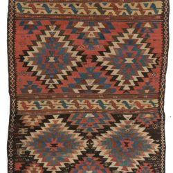 "Antique Persian Kilim 6'2""×12'6"""