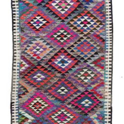 "Antique Persian Kilim Long Rug 5'0""×10'4"""