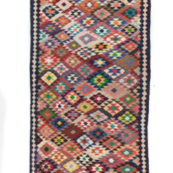 "Antique Persian Kilim Long Rug 4'6""×10'2"""