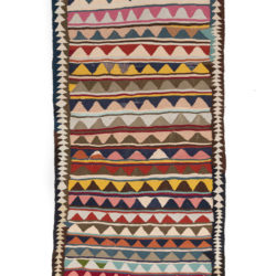 "Antique Persian Kilim Long Rug 4'4""×9'9"""