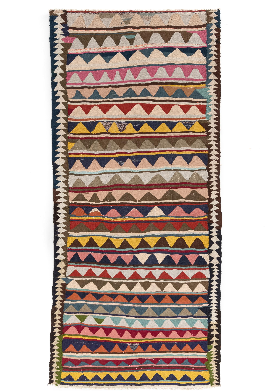 "Antique Persian Kilim Long Rug 4'4""×9'9"""