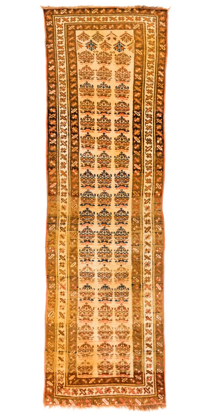 "Antique Persian Kurdish 3'4""×10'0"""