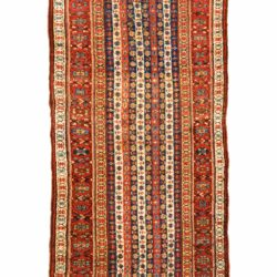 "Antique Persian Kurdish 3'4""×10'8"""