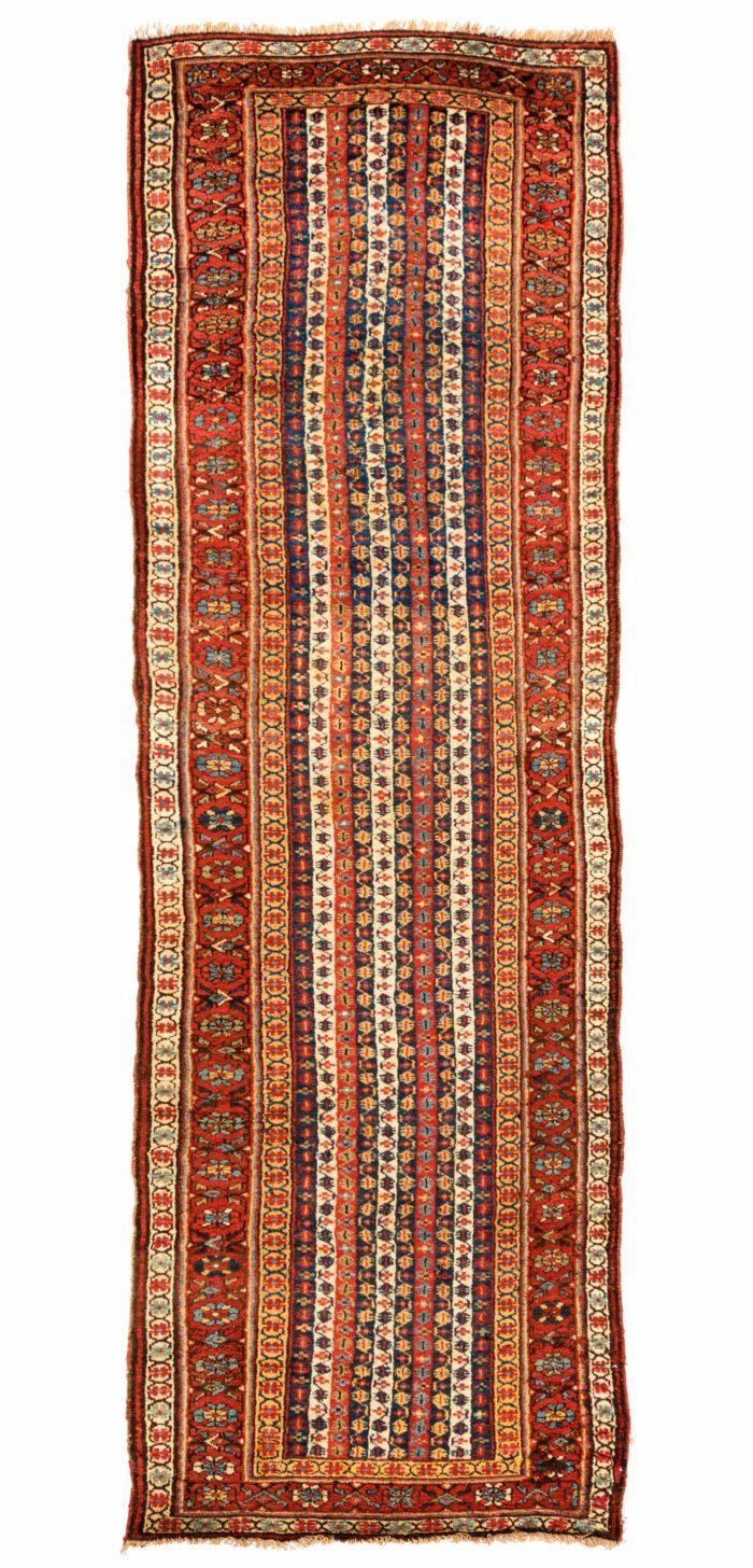 """Antique Persian Kurdish 3'4""""×10'8"""""""