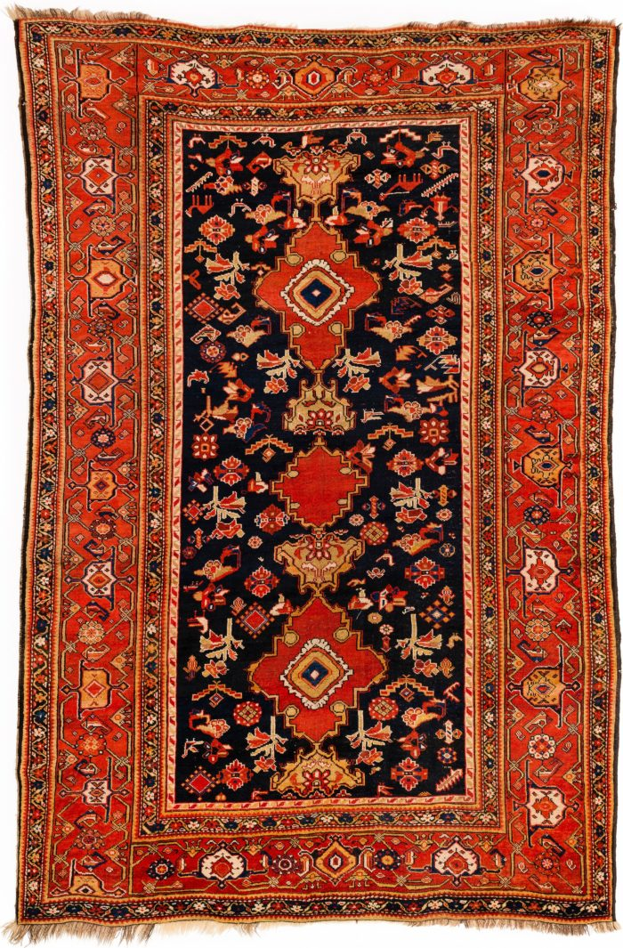 "Antique Persian Kurdish 6'8""×10'0"""