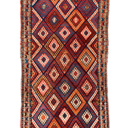 "Antique Persian Kurdish 2'10""×8'0"""