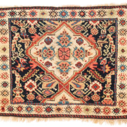 "Antique Persian Kurdish Bagface 1'11""×2'5"""