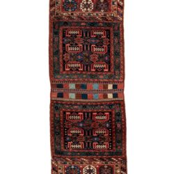 "Antique Persian Kurdish Bagfaces 1'11""×5'4"""