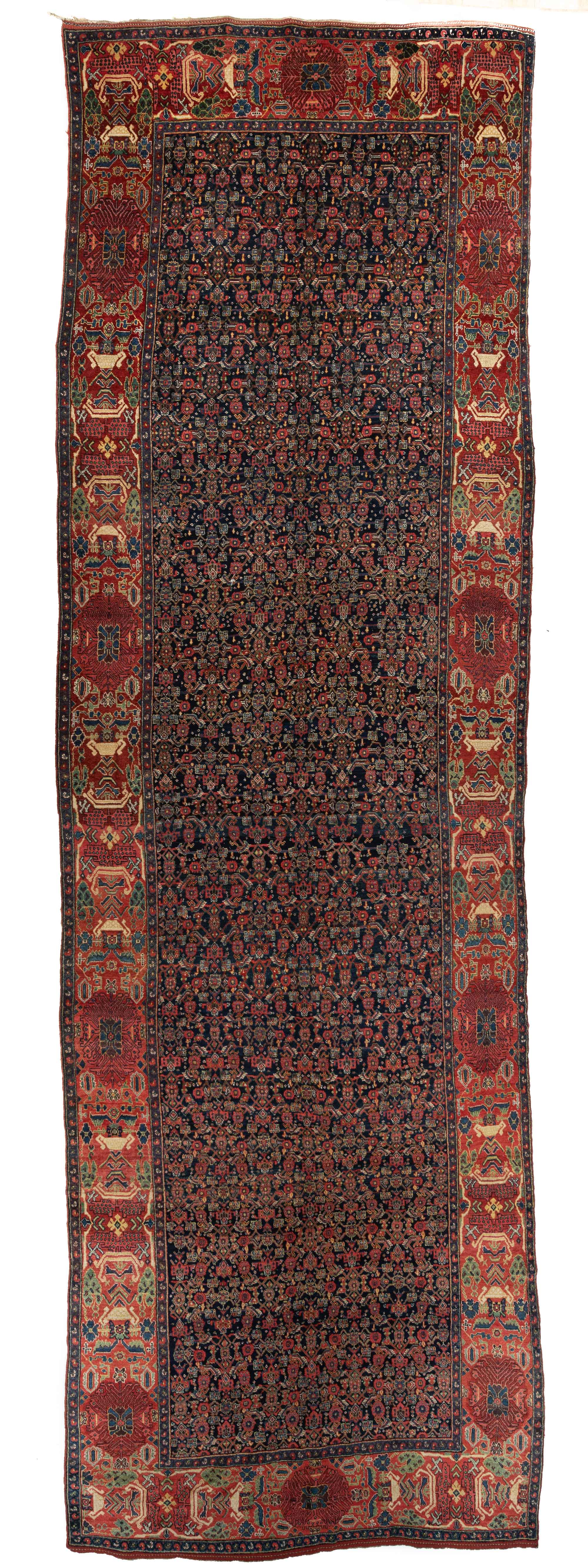 "Antique Persian Kurdish Bidjar 6'1""×19'7"""