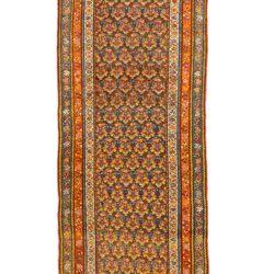 "Antique Persian Kurdish Runner 3'6""×12'10"""