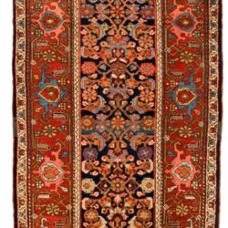 "Antique Persian Kurdish Runner 3'6""×16'8"""