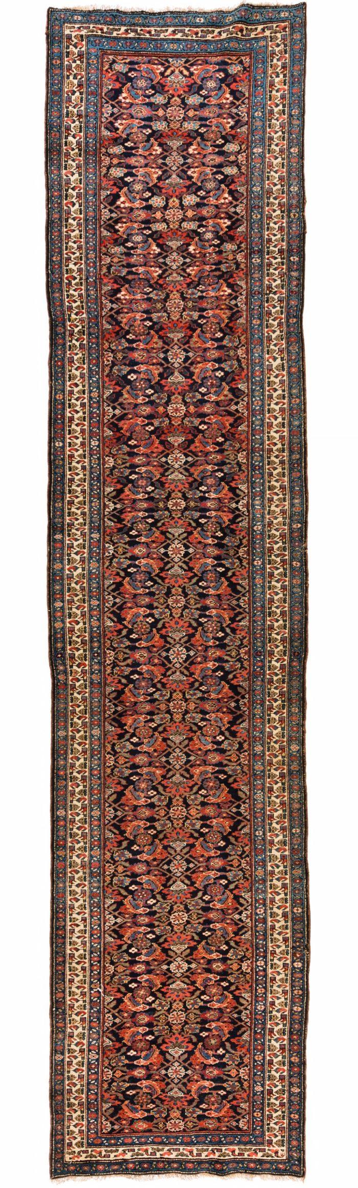 "Antique Persian Kurdish Runner 3'10""×16'7"""