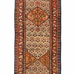 "Antique Persian Kurdish Runner 3'5""×23'3"""