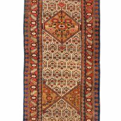 "Antique Persian Kurdish Runner 3'5""×23'3"""