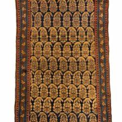 "Antique Persian Kurdish Runner 3'6""×18'5"""