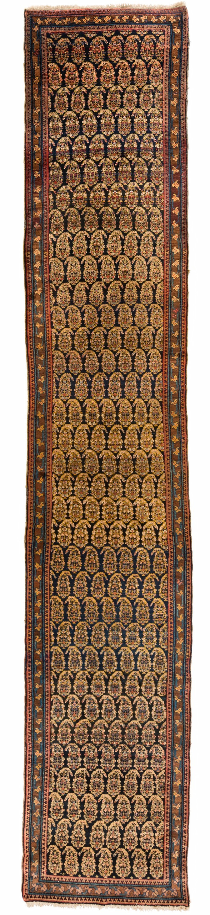 "Antique Persian Kurdish Runner 3'6""×18'5"""
