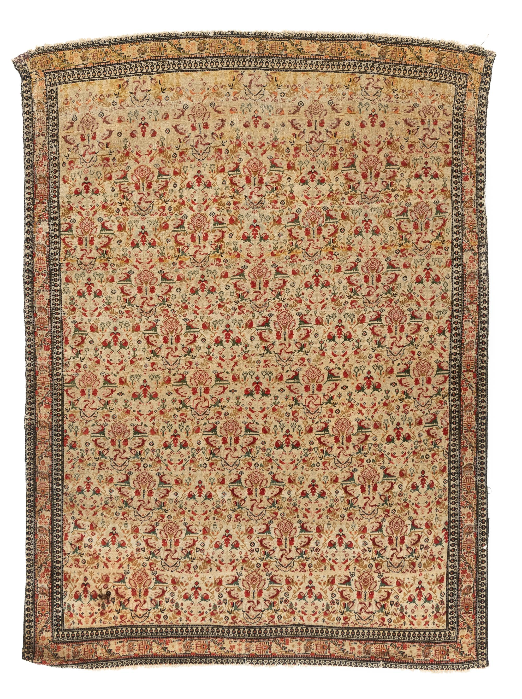"Antique Persian Kurdish Senneh 4'5""×6'2"""