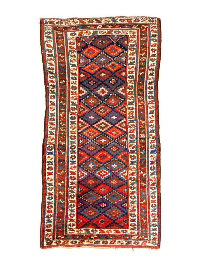 "Antique Persian Kurdistan 4'2""×8'2"""