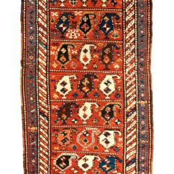 "Antique Persian Kurkish 4'0""×10'6"""