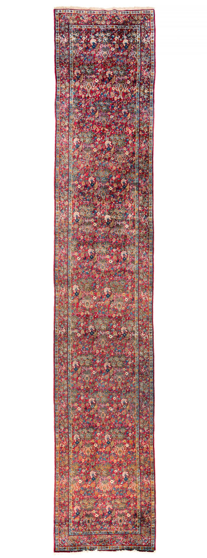 "Antique Persian Lavar Kerman 3'2""×16'6"""