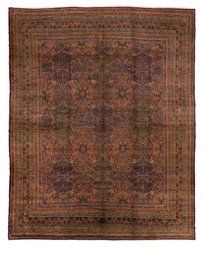 "Antique Persian Lavar Kerman 17'10""×21'2"""