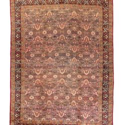 "Antique Persian Lavar Kerman 10'10""×15'0"""