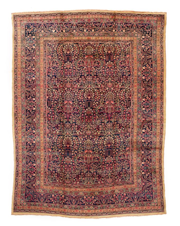 "Antique Persian Lavar Kerman 14'10""×20'8"""