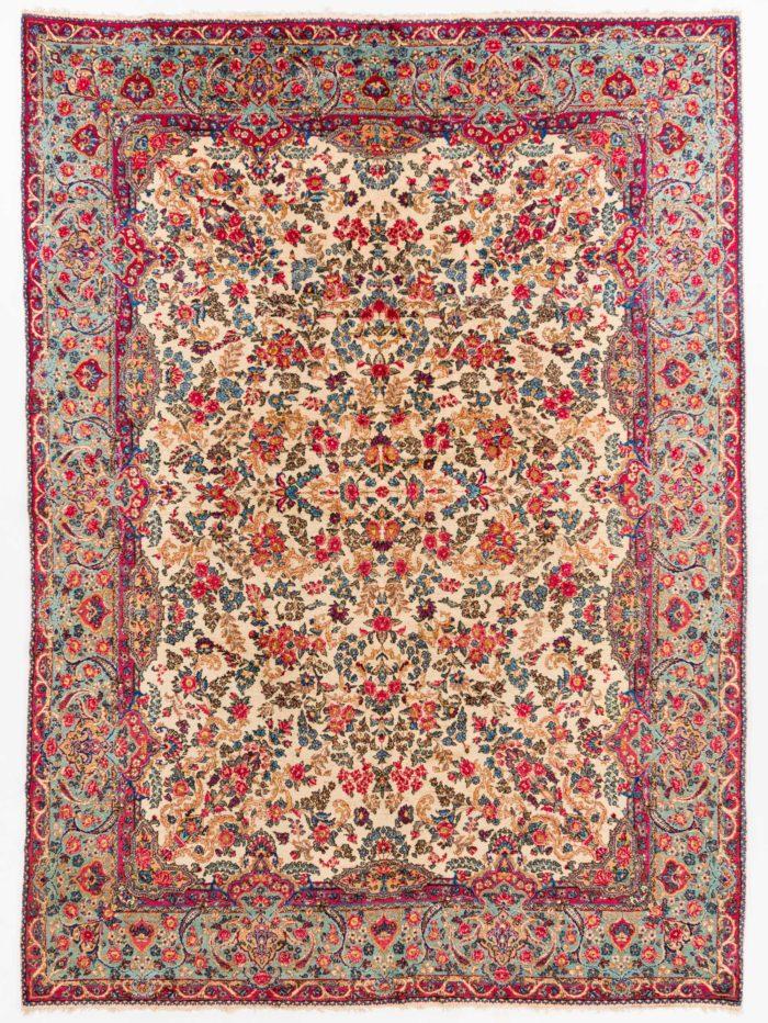"Antique Persian Lavar Kerman 8'9""×12'0"""