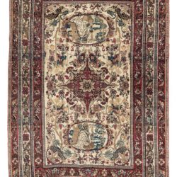 "Antique Persian Lavar Kerman Rug 4'1""×6'1"""