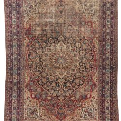 "Antique Persian Lavar Kerman Rug 10'4""×14'7"""