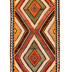 "Antique Persian Luri Kilim 5'0""×11'6"""